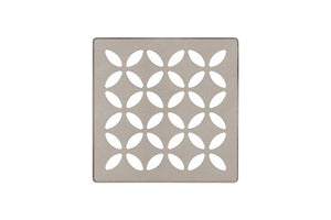 "SCHLUTER KERDI-DRAIN STAINLESS STEEL 4""  GRATE FLORAL SQUARE KIT"