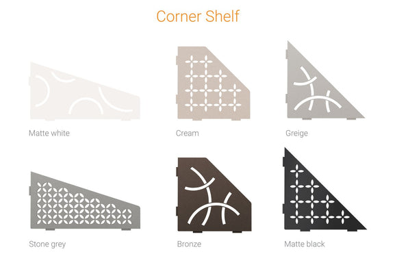SHELF PENTAGON CORNER CURVE