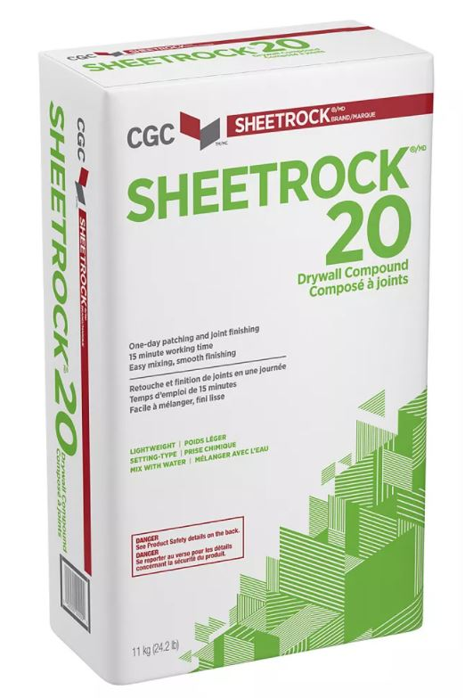 CGC SHEETROCK BRAND 20 SETTING-TYPE DRYWALL COMPOUND