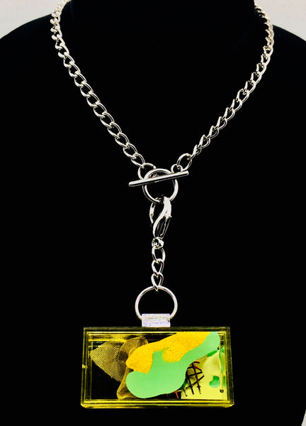 Yellow Node Art Necklace With Chain.01