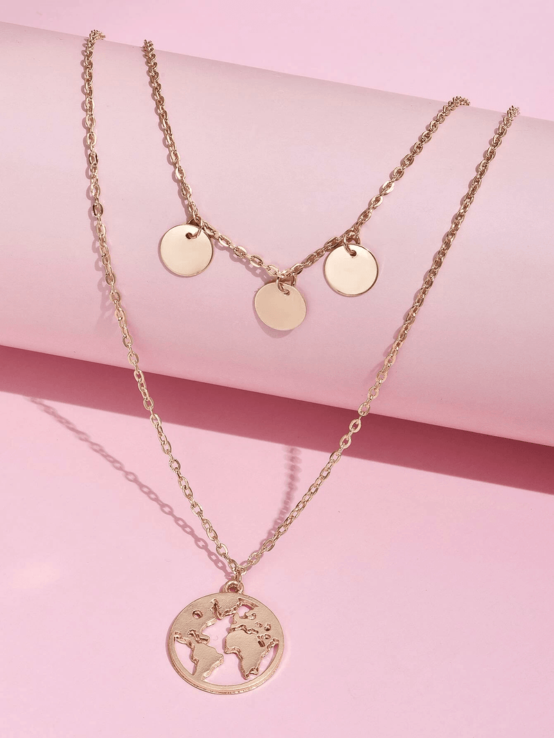 Disc Layered Necklace