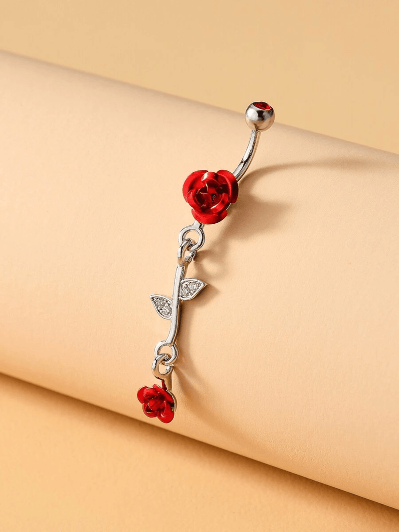 Flower Decor Belly Bar