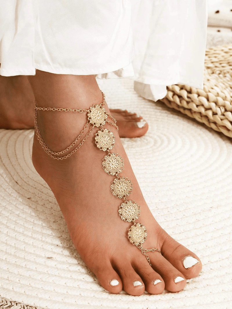 Round Decor Toe Chain Anklet