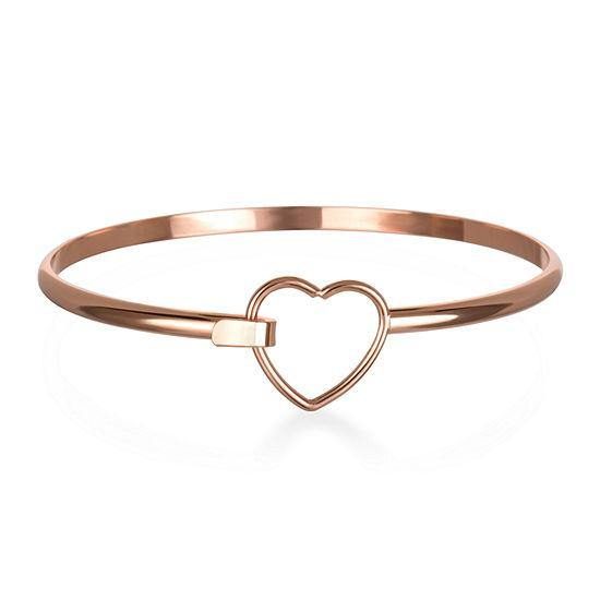 Mixit Rose Tone Heart Bangle Bracelet