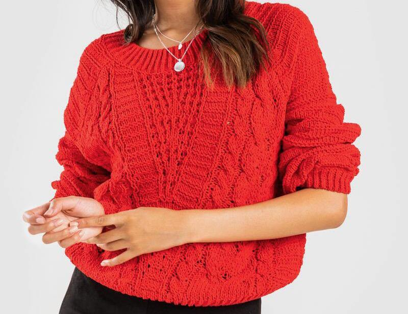 Jacynda Ballon Sleeve Sweater
