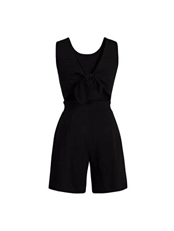 TIE-BACK COTTON ROMPER