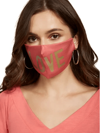 New York & CO Pink Love Face Mask
