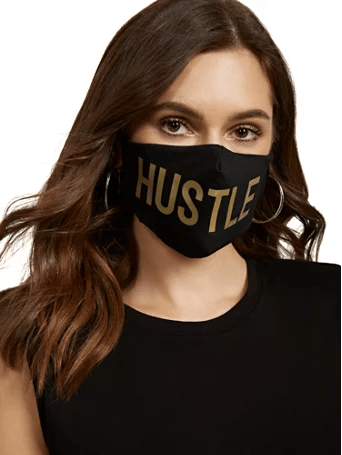 New York & CO Black Hustle Face Mask