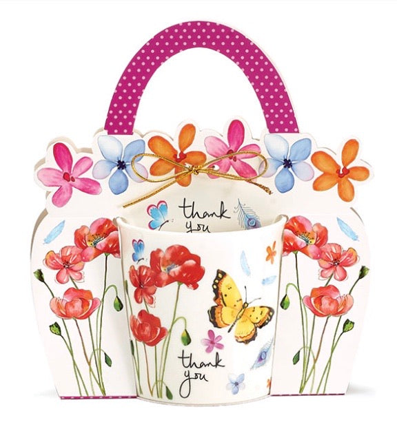 Thank You Butterfly Mug With Caddy