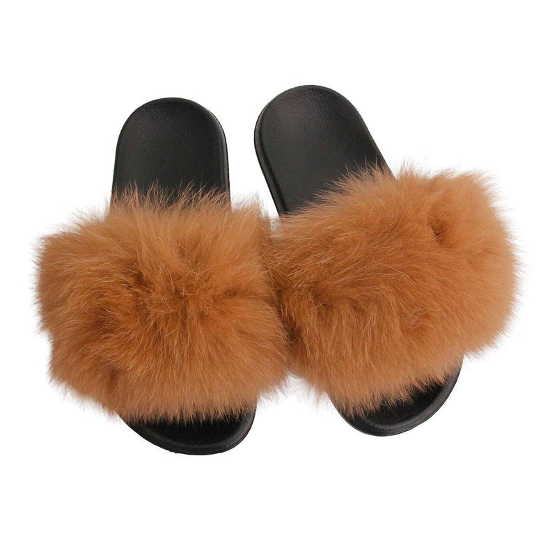 Brown Fuzzy Slippers