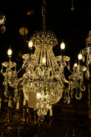 Crystal Chandelier 11 Lights Candle Style Traditional Chandelier Lighting Fixture