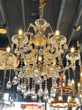 Maria Theresa Chandelier Crystal Chandelier French design Gold Color Lighting Fixture 6 lights