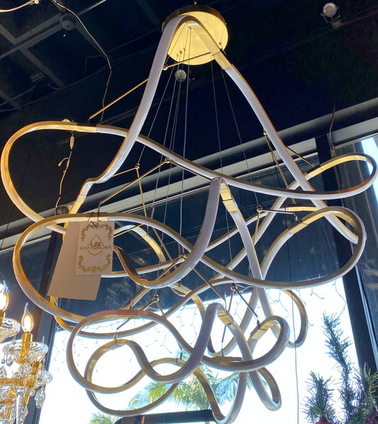 Modern Contemporary Chandelier LED Lighting Chandelier Gold Color For Indoor Home