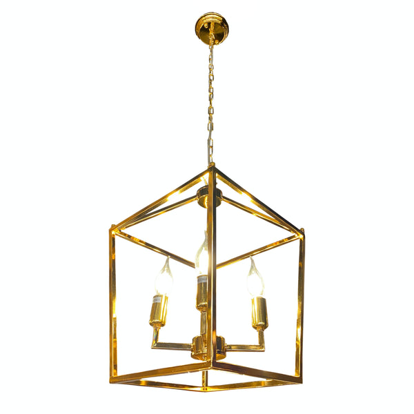 Lantern Chandelier Pendant light Gold Color 4 lights for Kitchen Island
