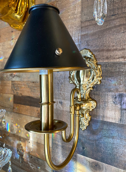 Wall lamp Gold  Wall sconces with Black shade cover