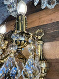 Handmade Bronze Wall Sconces with Crystal Classic Traditional Wall Lamp