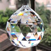 Replacement Chandelier Crystal Prism - Crystal Ball 40 mm- 10-Pack with 10 brass wire