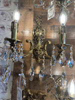 Bronze Handmade Wall Sconces, Crystal Wall lamps, lamps fixture 2 Lights