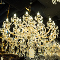 Crystal Chandelier Maria Theresa Crystal Chandelier Gold Color for living room , Dining room