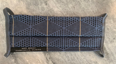 GNV Airport:   Navy with Gold Dots and Navy Foldover Elastic for Ears