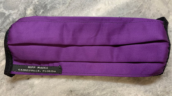 The Gainesville High Hurricane 2: Purple Sateen Cotton with White or Black Foldover Elastic for Ears