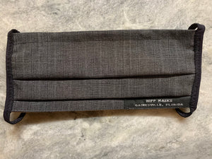 Virgil Hawkins - Grey Blend Suit Material with Black Foldover Elastic for Ears