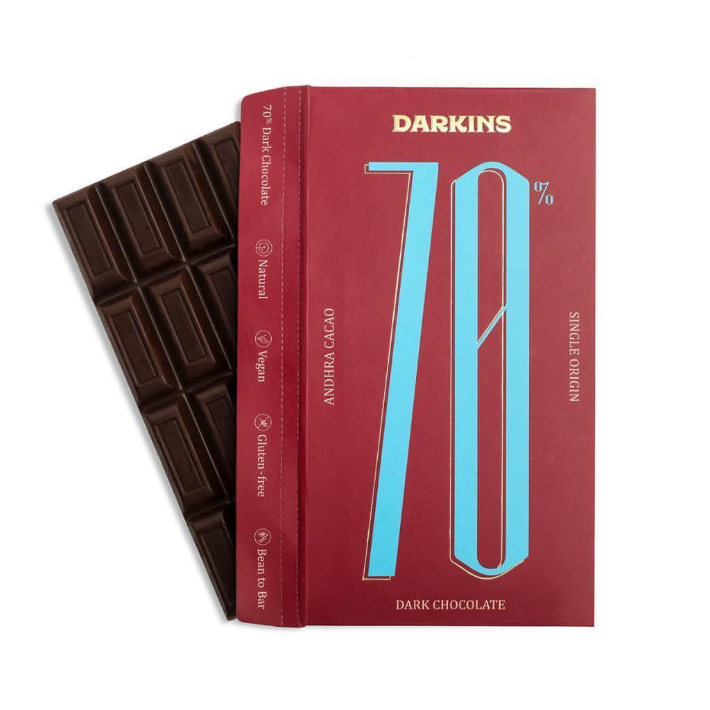 Darkins 70% Dark Chocolate- Single Origin cacao from Andhra Pradesh