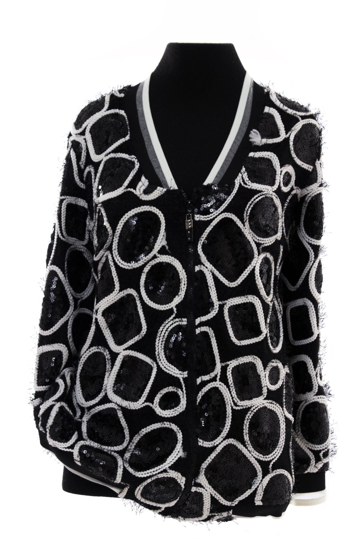 Black & White Sequence Evening Jacket