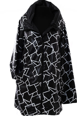 All Weather Geometric Square Jacket - Black