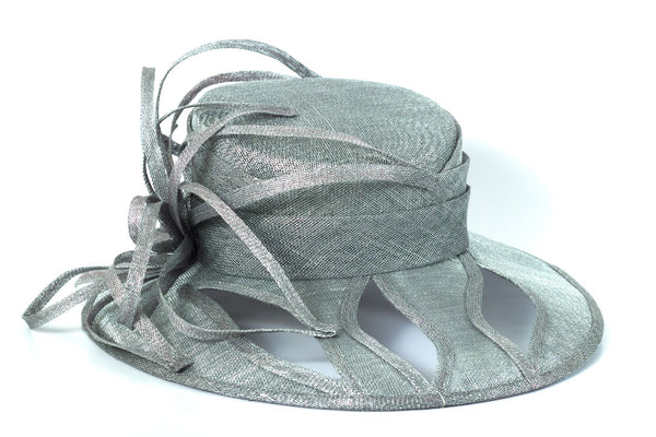 Grey Royal Styled Formal Hat