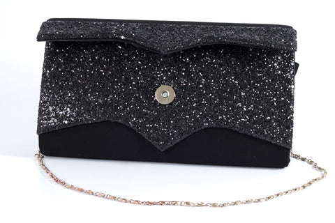 Two Toned Black Textured Bag