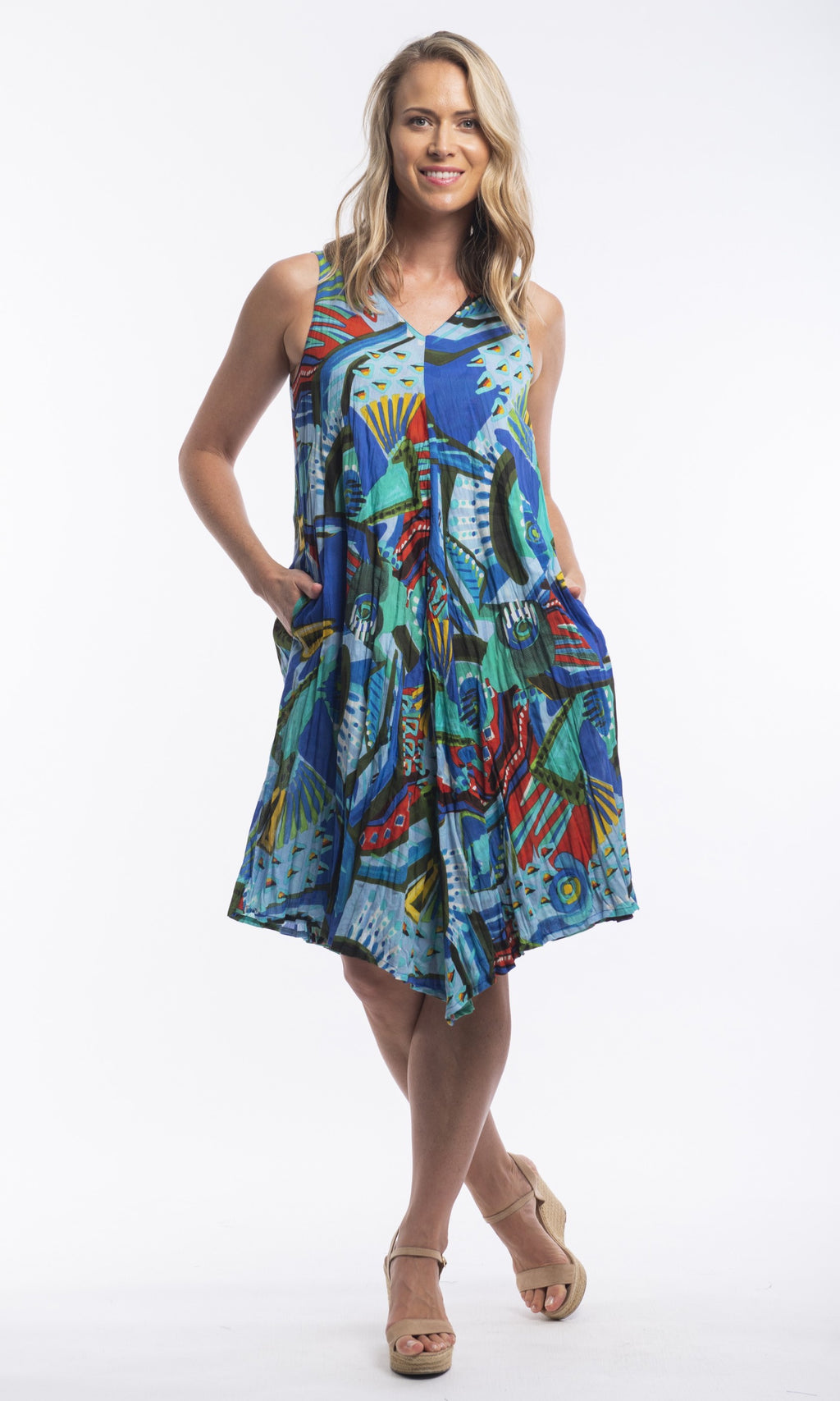 Cotton Dress Beach Reversible Granada