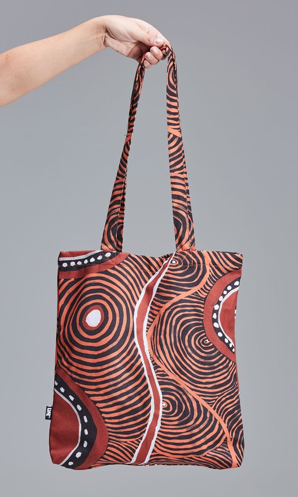 Aboriginal Art Shoulder Bag Voice of Land