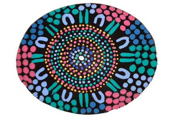 Aboriginal Art Lacquer Pill Box by Alanna Rose