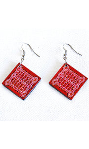Aboriginal Art Ceramic Earrings by Shorty Robinson