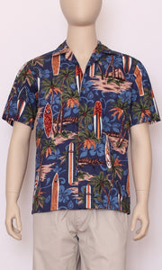 Hawaiian Shirt Genuine Surf Blue