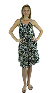 Rayon Dress Montego Leopard, More Colours