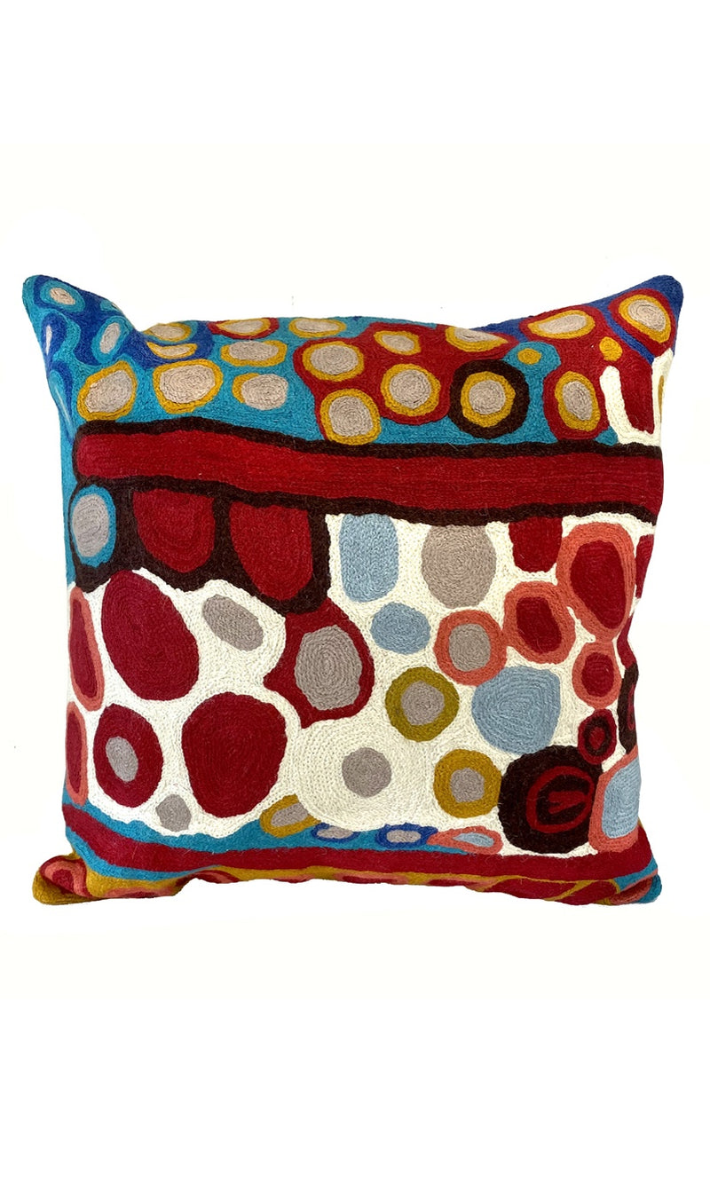 Aboriginal Art Cushion Cover by Anmanari Brown