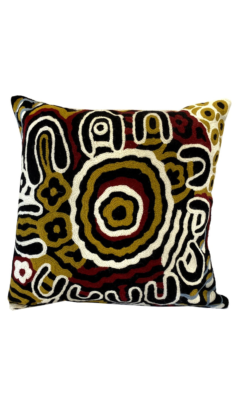 Aboriginal Art Cushion Cover by Anawari Mitchell