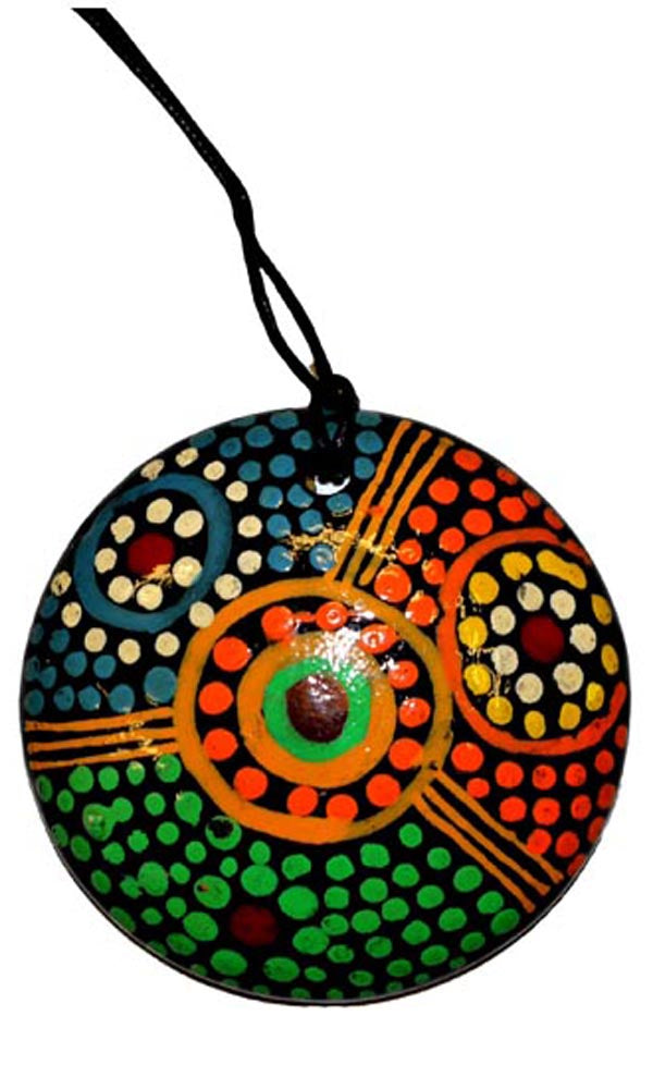 Aboriginal Art Pendant by Jane Oliver