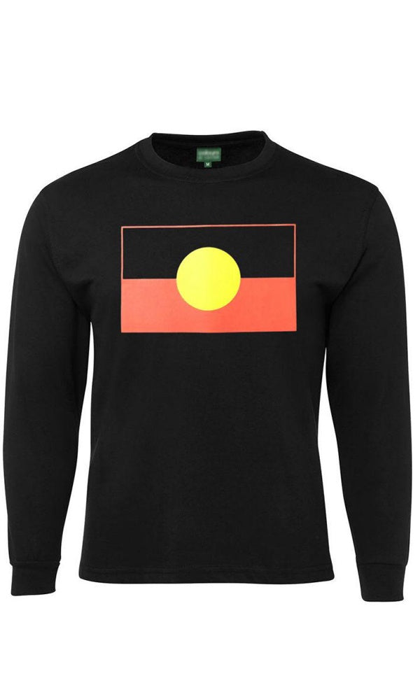 Aboriginal Flag Kids Long Sleeve Tee
