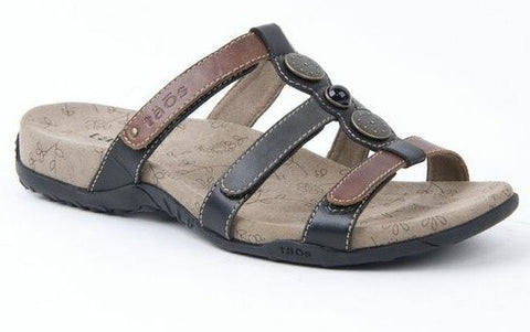 Arch Support Sandal Prize Black Multi, Sizes 6 & 10 only
