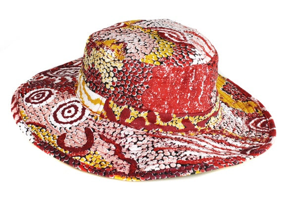 Aboriginal Art Cotton Bucket Hat by Damien & Yilpi Marks