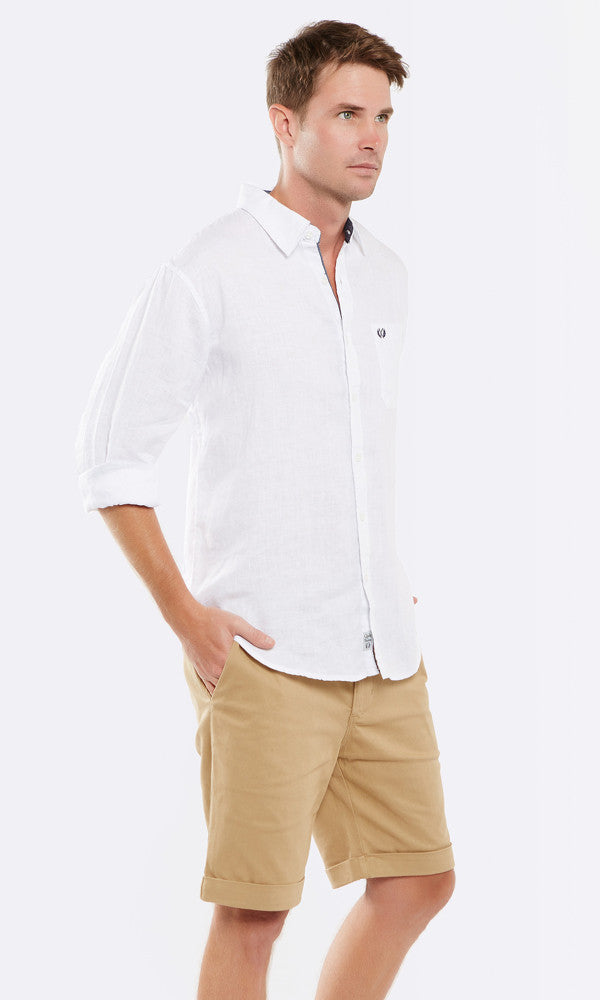 Linen Shirt Long Sleeve White.