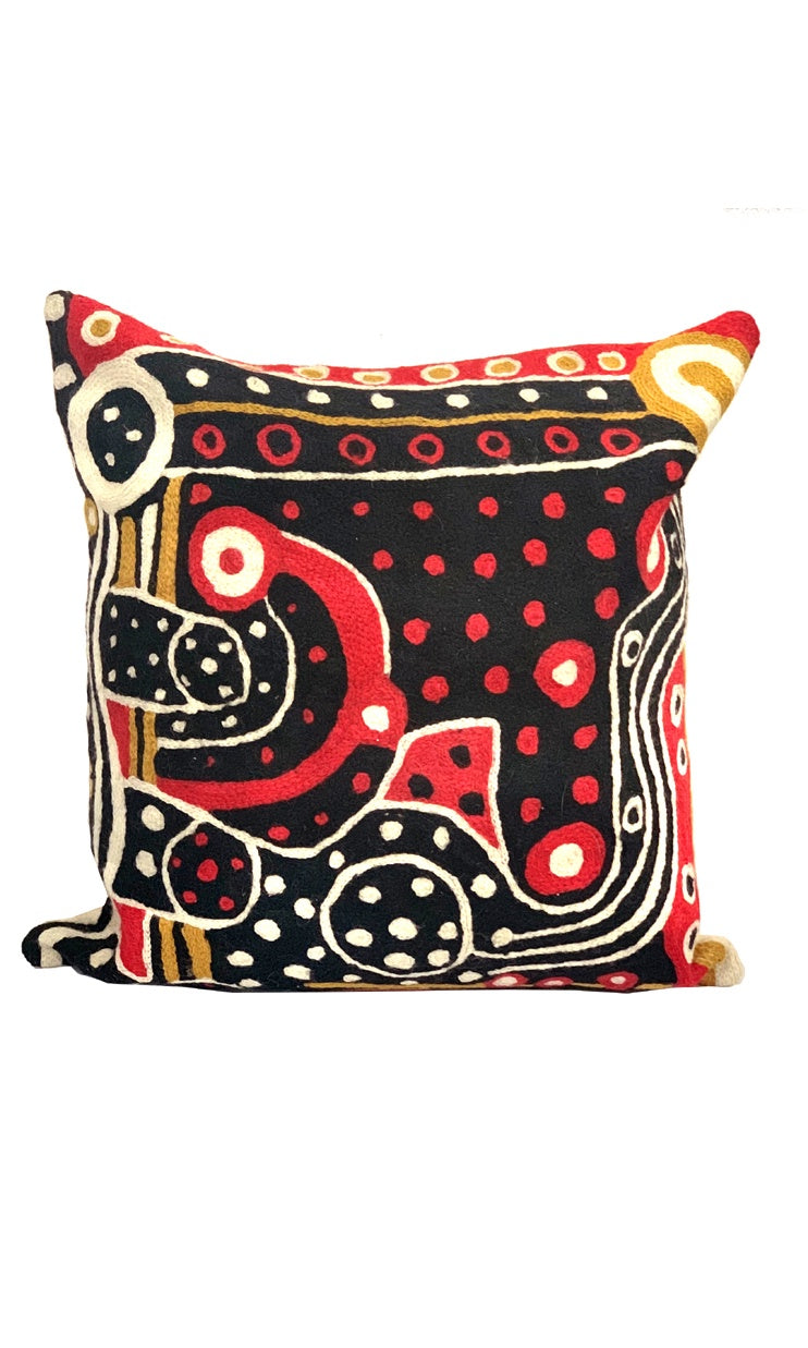 Aboriginal Art Cushion Cover by Nami Kulyuru