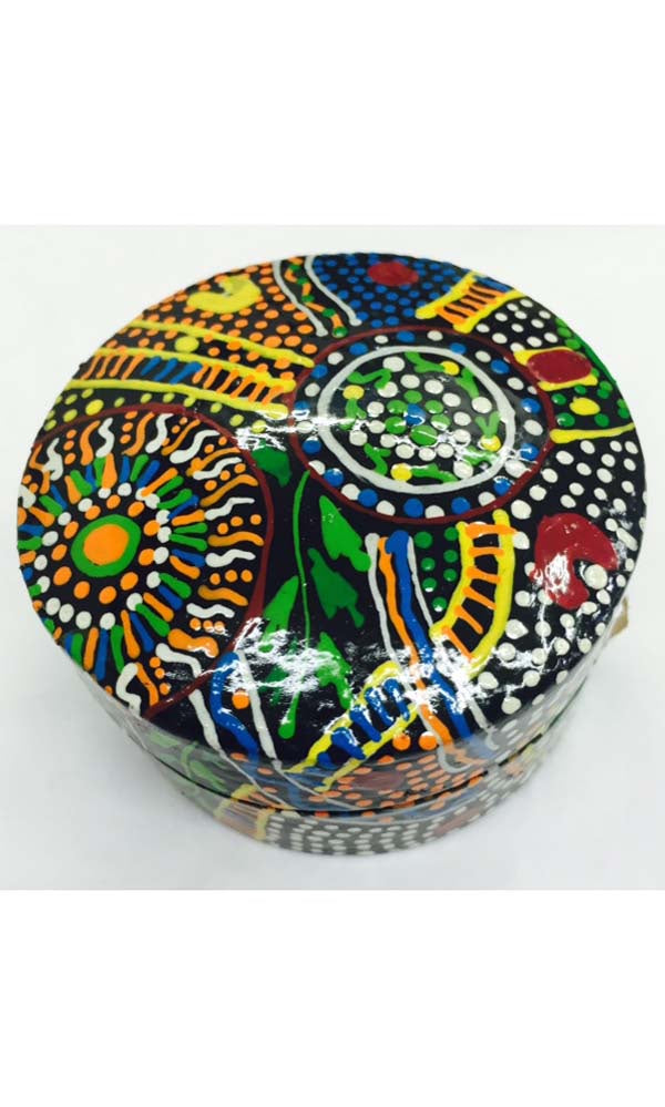 Aboriginal Art Lacquer Ring Box by Lee-Ann Hall