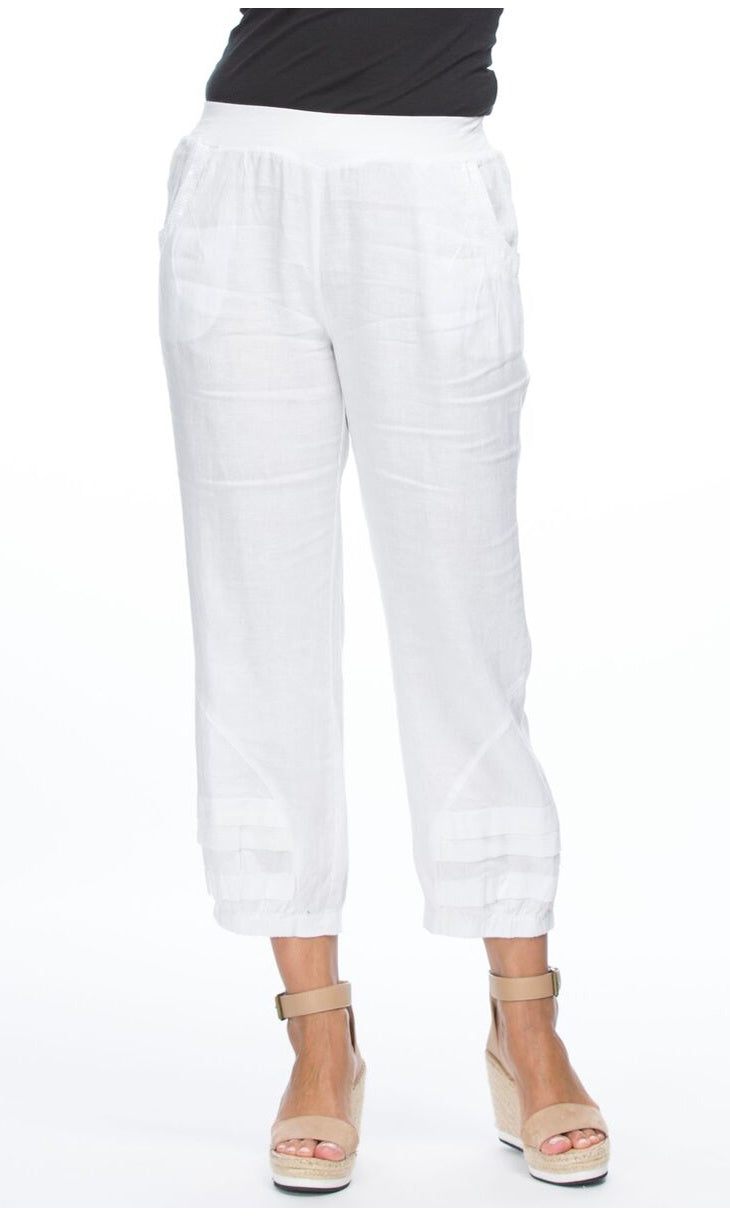 Linen Pant Sequin Trim