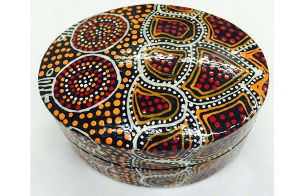 Aboriginal Art Lacquer Ring Box by Lee-Ann Hall (2)