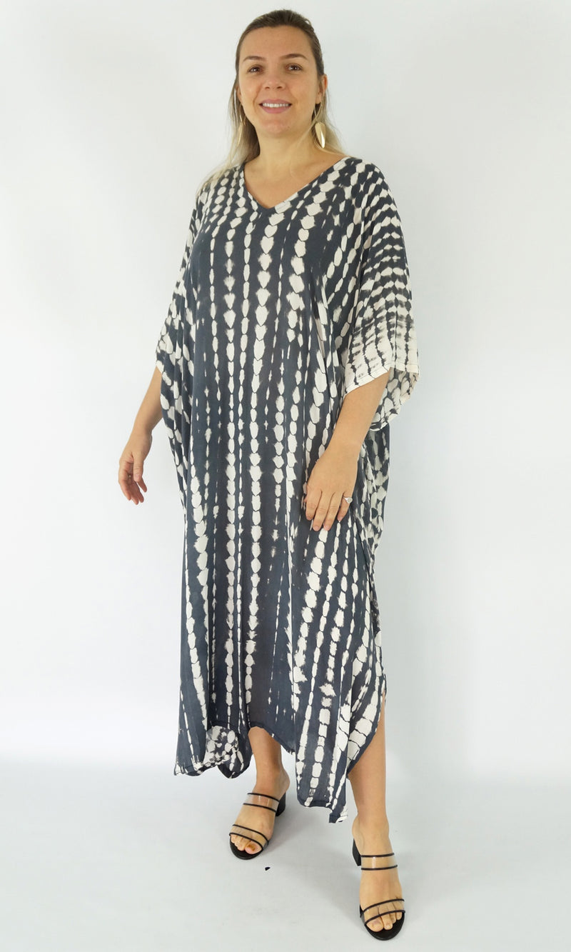 Rayon Kaftan Long Crackle, More Colours