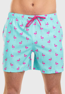 Flex Swim Short Let's Flamingle Mint